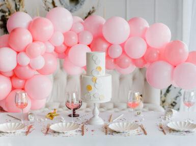 bridal shower balloon decorations