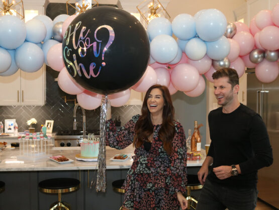 gender reveal jumbo balloons Houston