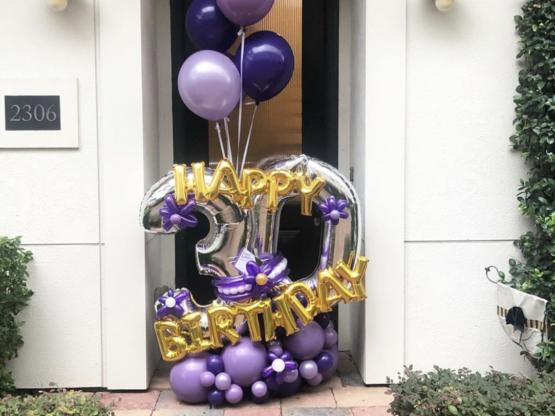 birthday balloon bouquet Houston tx