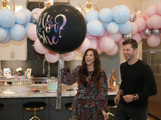 gender reveal jumbo balloons Houston