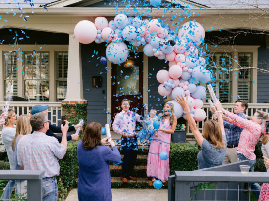 gender reveal balloon decorations Houston
